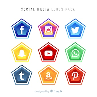 Gradient social media logo collectio