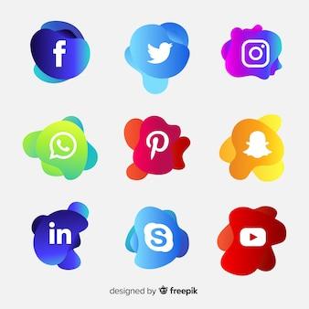 Gradient social media logo collectio