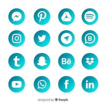 Gradient social media logo collection