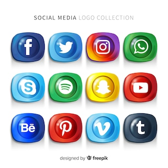 Gradient social media logo pack
