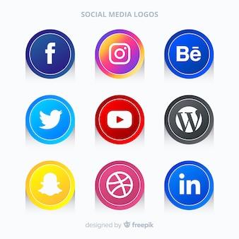 Gradient social media logo pack
