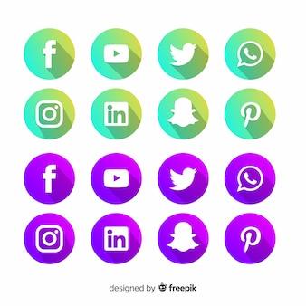 Loghi social media gradiente