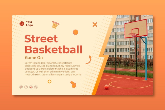 Gradient sport banner template
