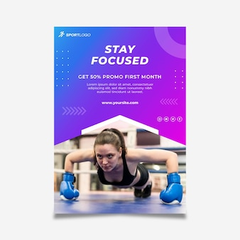 Gradient sport flyer template