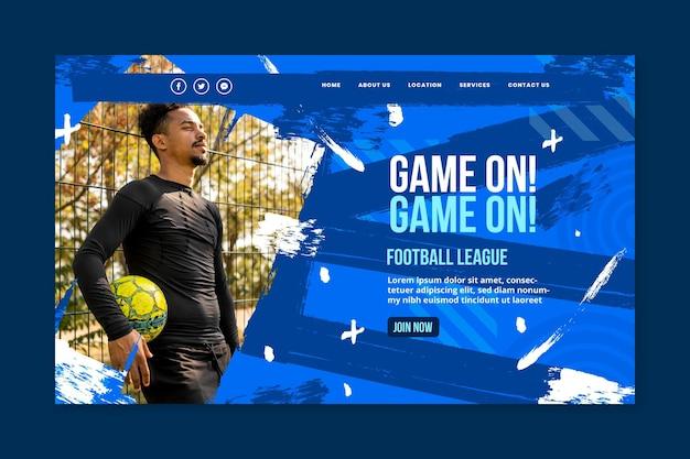 Pagina di destinazione sportiva gradiente Vettore gratuito