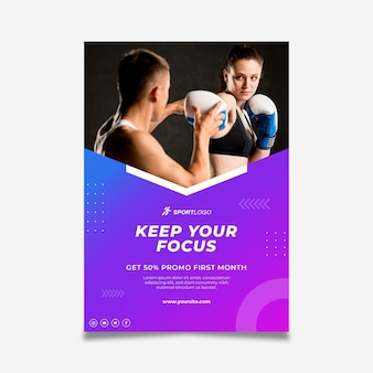Gradient sport poster template