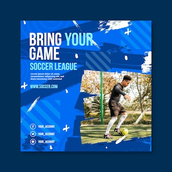 Gradient sport squared flyer template