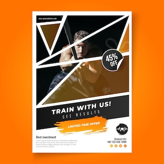 Gradient sport vertical flyer template