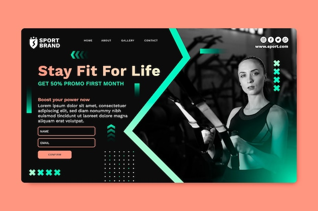 Gradient sport web template