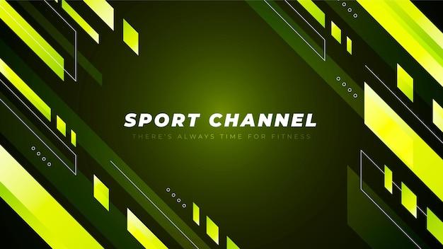 그라디언트 스포츠 유튜브 채널 아트