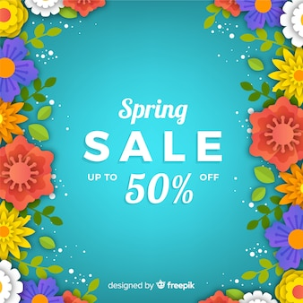 Gradient spring sale background