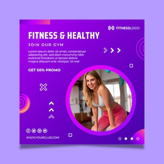 Gradient squareflyer template for gym training