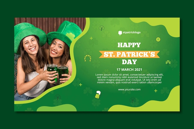 Gradient st. patrick's day banner template