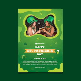 Gradient st. patrick's day vertical flyer