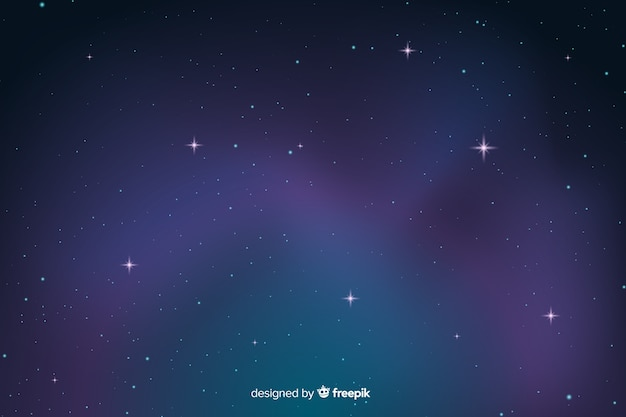 Gradient starry night dark background