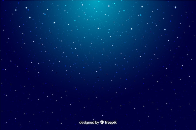 Gradient starry night decorative background