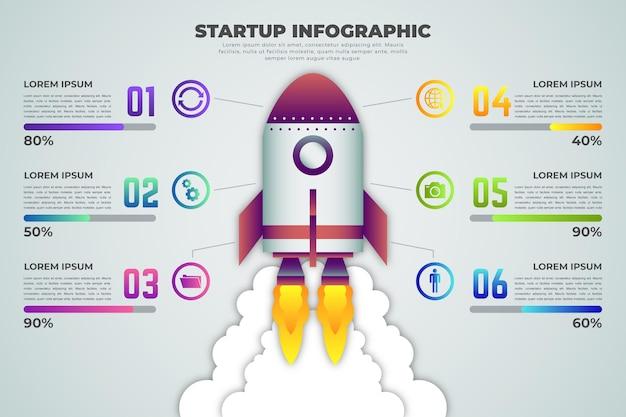 Gradient startup infographic