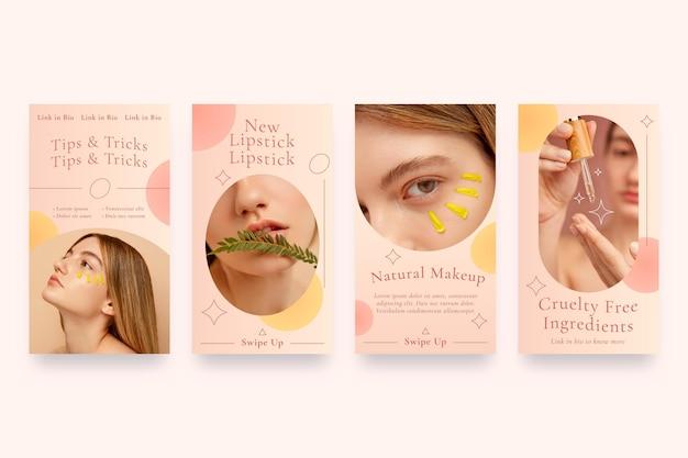 グラデーションスタイルの美容インスタグラムストーリーコレクション