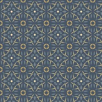 Gradient style golden arabic pattern