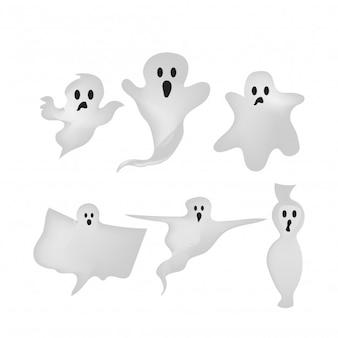 Gradient style halloween ghost element design