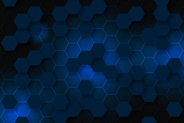 グラデーションスタイルの六角形の背景