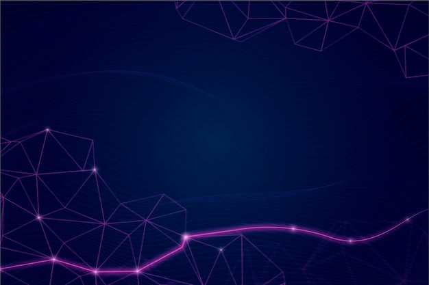 Gradient style network connection background