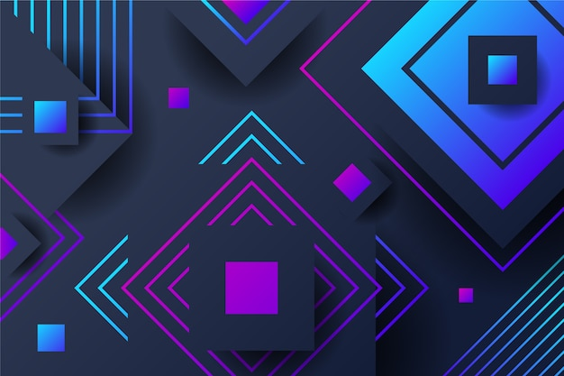 Gradient style shapes on dark background