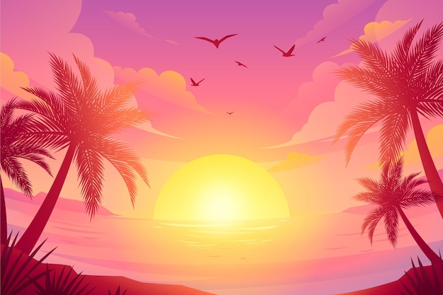 Videocalls 그라데이션 여름 배경