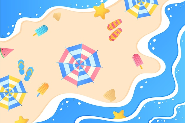 Gradient summer background for videocalls Free Vector