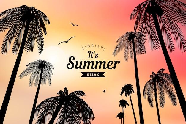 그라데이션 여름 배경