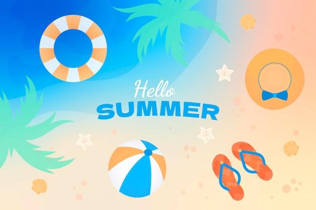 グラデーションの夏の背景