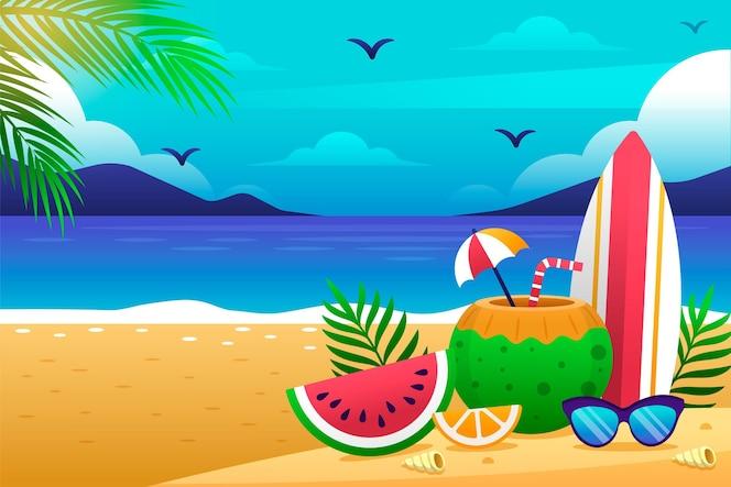 Gradient summer background