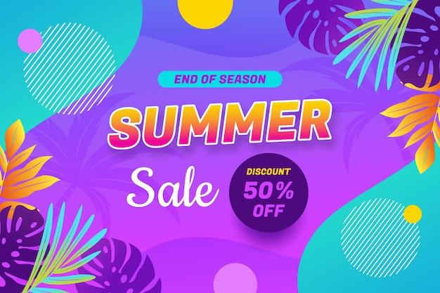 Gradient summer sale banner template