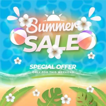 Градиентная летняя распродажа иллюстрация