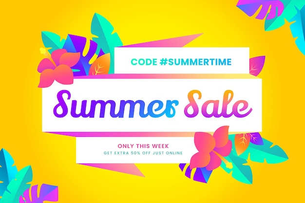 Gradient summer sale illustration