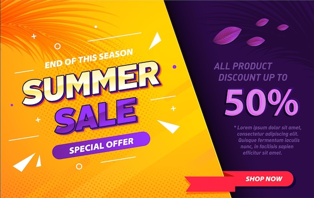Gradient summer sale special offer banner