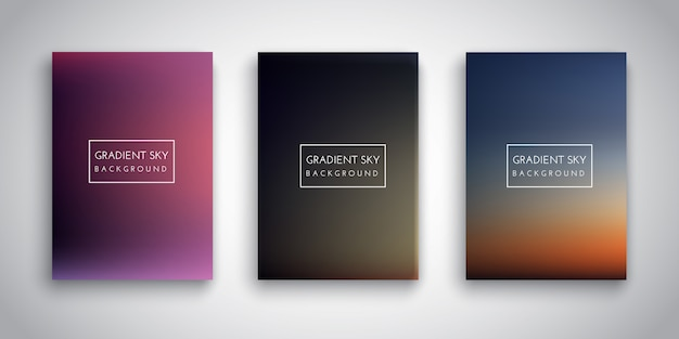 Gradient sunset sky backgrounds
