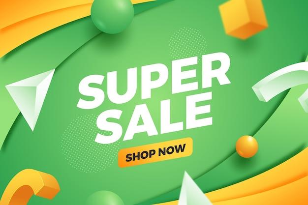 그라데이션 슈퍼 판매 배경 무료 벡터