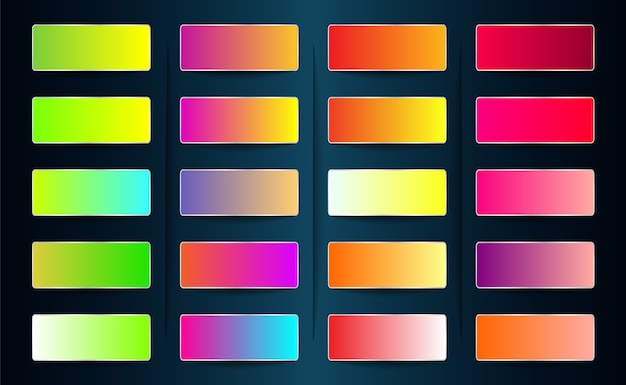 Gradient swatch and color palette