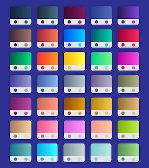 Gradient swatches set, vibrant gradients collection