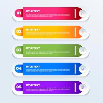 Sommario gradiente infografica