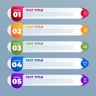Gradient table of contents infographic