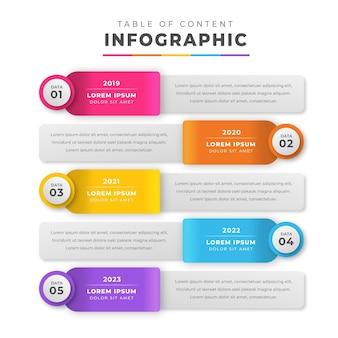 Градиентная инфографика содержания