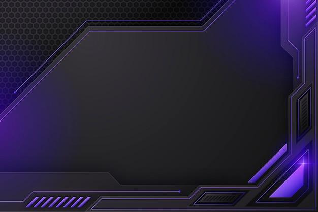 Gradient tech futuristic background