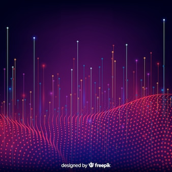Gradient technological falling particles background