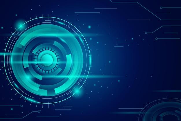 グラデーション技術の青い背景