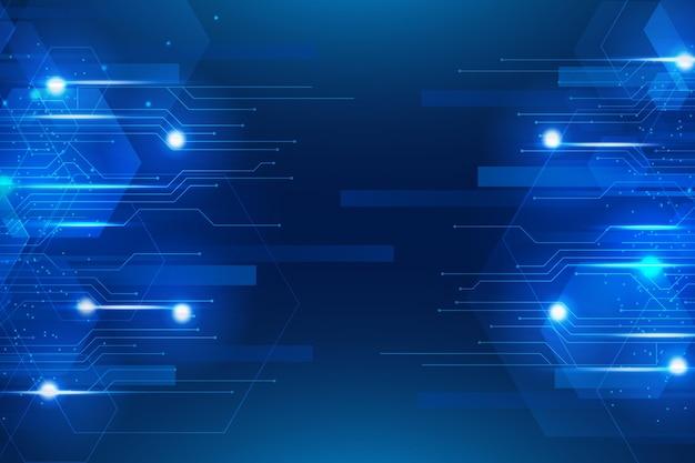 グラデーションテクノロジーサイバーバックグラウンド