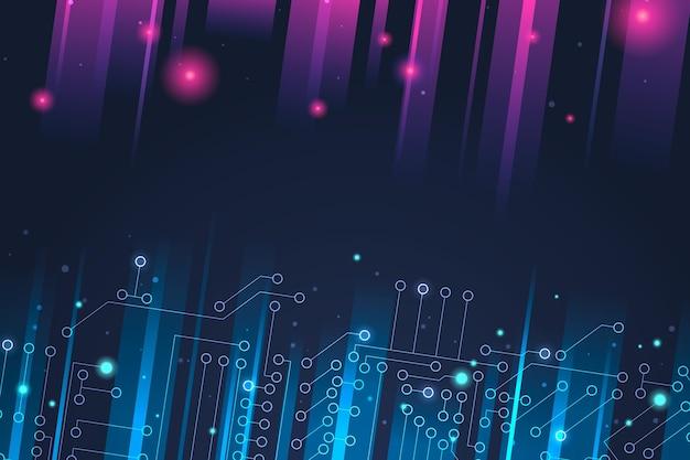 Gradient technology futuristic background