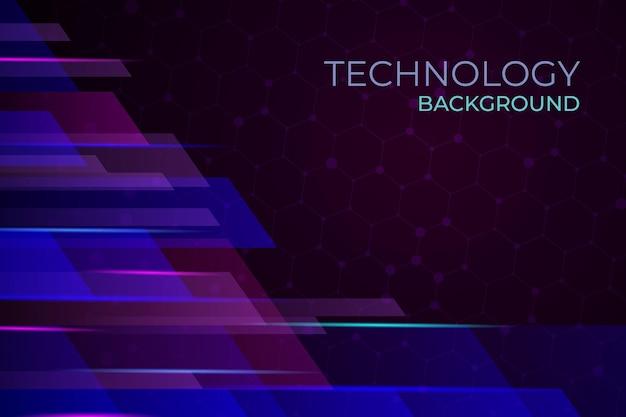 Sfondo futuristico con tecnologia sfumata