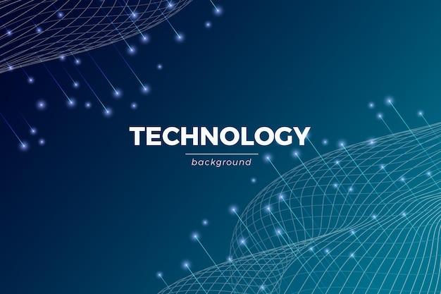 グラデーションテクノロジーの未来的背景